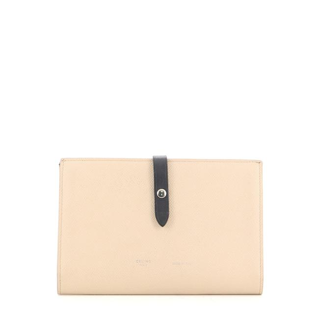 Item - Neutral Multifunction Strap Leather Large Wallet