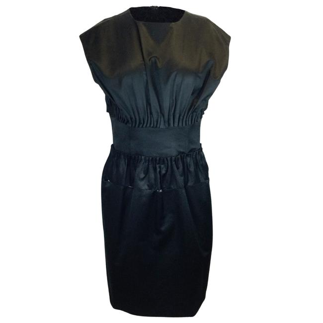 Item - Black Cotton & Silk Cocktail Dress Size 8 (M)