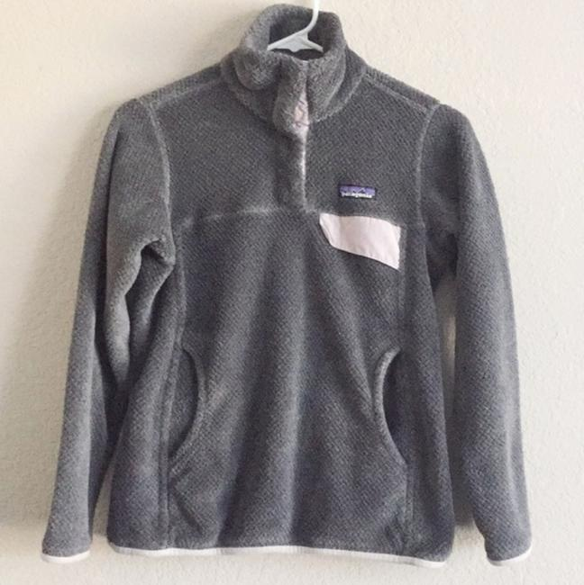 Item - Grey Re-tool Snap-t Fleece Pullover Activewear Outerwear Size 2 (XS)