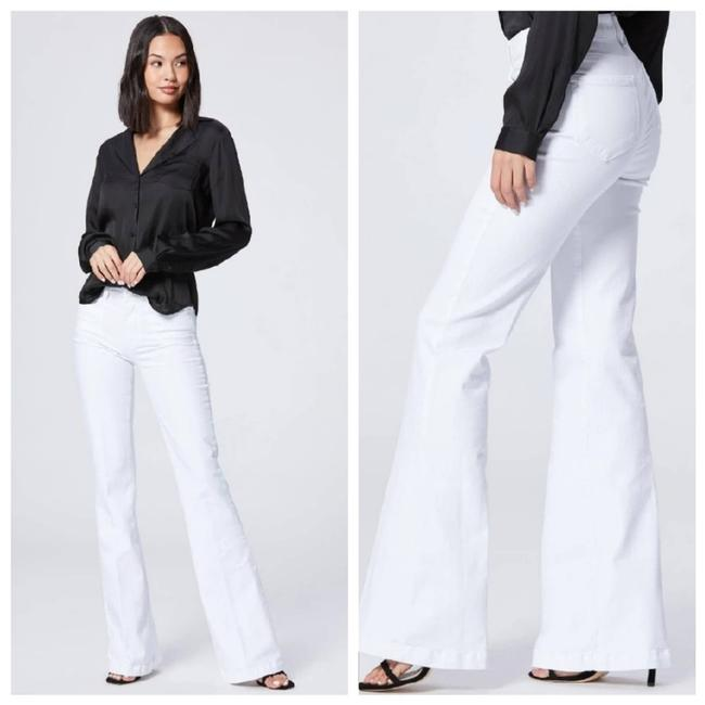 Item - White Genevieve High Rise Flare In Crisp Trouser/Wide Leg Jeans Size 28 (4, S)