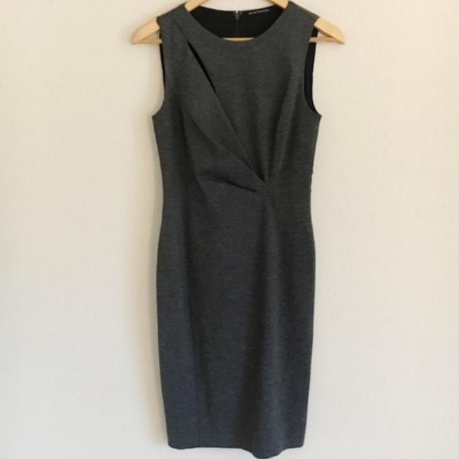 Item - Grey Knee Length Mid-length Work/Office Dress Size 6 (S)