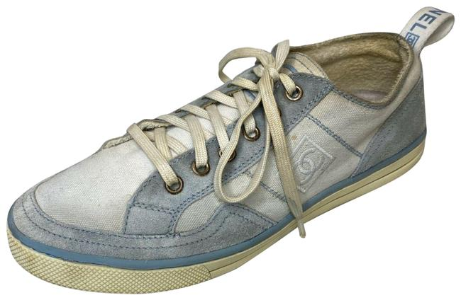 Item - Blue/White 08c Suede Logo Cc Low-top Sneakers Size US 9 Regular (M, B)