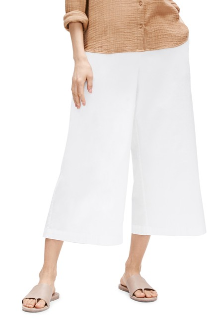Eileen Fisher White Jersey Cropped - Organic Cotton Stretch Pants Size 10 (M, 31) Eileen Fisher White Jersey Cropped - Organic Cotton Stretch Pants Size 10 (M, 31) Image 1