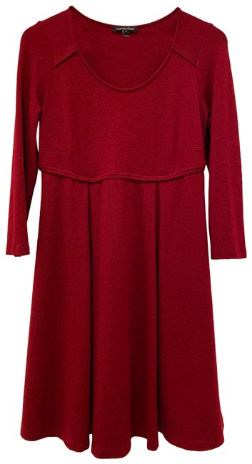 Item - Burgundy Maternity Dress Size 8 (M)