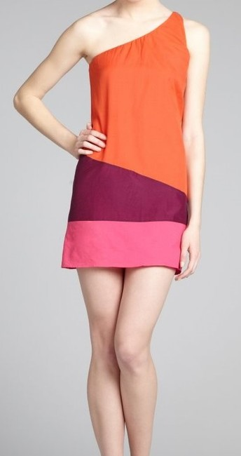 KAS New York short dress Kas New York dress Orange, purple, pink on Tradesy