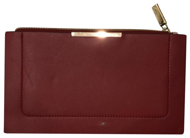 Item - Envelope Nude and Red Leather Clutch