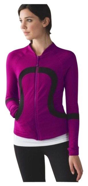 Item - Regal Plum / Black Find Your Bliss Reversible Activewear Outerwear Size 4 (S)