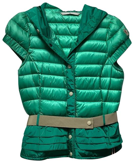 Item - Green Belted Ruffled Trim Vest Size 0 (XS)