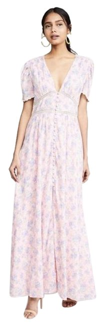 Item - Pink Garden Stacy Duster Long Casual Maxi Dress Size 12 (L)