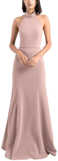 Item - Whipped Apricot Petra Halter Crepe Long Night Out Dress Size 6 (S)
