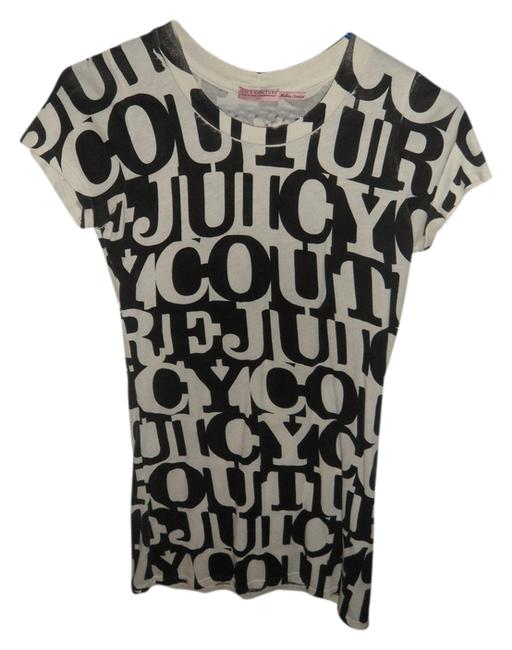 Juicy Couture T Shirt Black and White