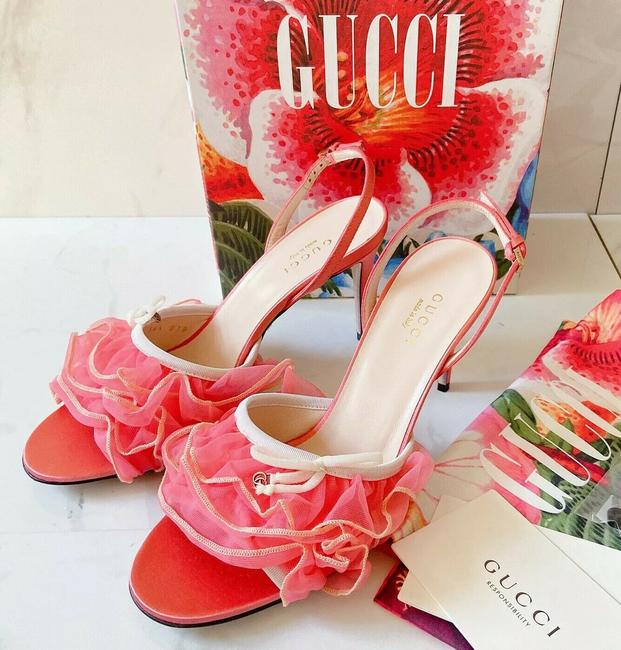 Item - Pink Peach Sandals Size US 5.5 Regular (M, B)