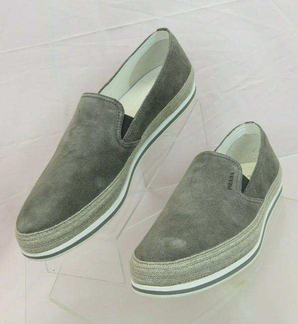 Item - Gray 4d3224 Suede Logo Espadrille Skater Sneakers Loafers 9 / Us 10 Shoes