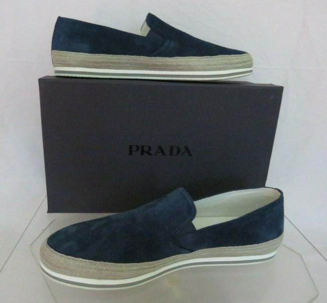 Item - Blue 4d3224 Navy Suede Logo Espadrille Skater Sneakers Loafers 11.5 Us 12.5 Shoes