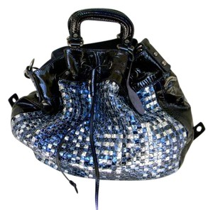 Francesco Biasia Tote in Navy/shades of blue/silver