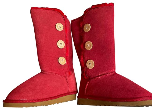 Item - Pink 3 Button Bailey Boots/Booties Size US 7 Regular (M, B)