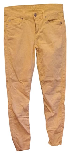 Item - Yellow Coated 017738 Skinny Jeans Size 26 (2, XS)