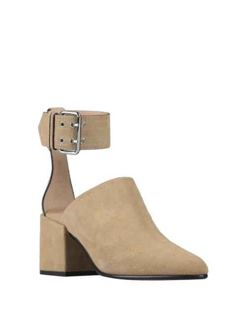 Item - Beige Women's Sand Suede Leather Mules Ankle Strap Boots/Booties Size EU 40 (Approx. US 10) Regular (M, B)