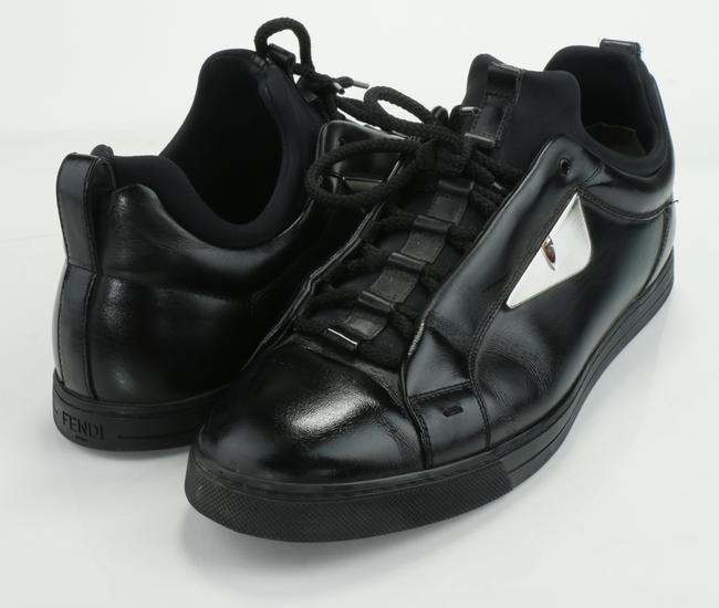 Item - Black Bugs Eyes Leather Sneakers Shoes