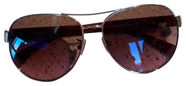 Item - Burgundy Aviators Sunglasses