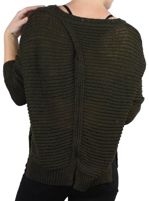 Item - Braeve Stitched Back Crew Green Sweater