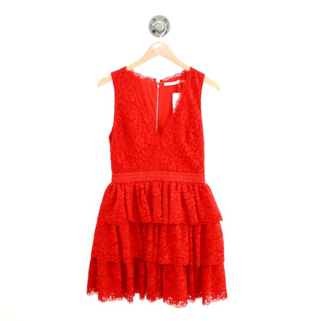 Item - Red Lace #103-28 Short Cocktail Dress Size 6 (S)