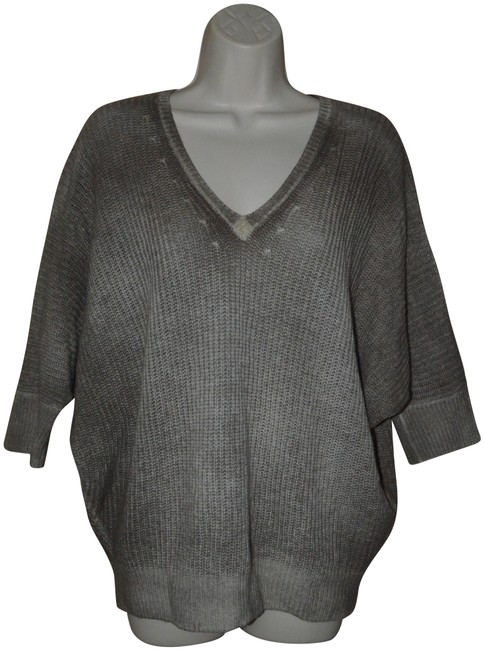 Item - XS Taupe V-neck Dolman Short Sleeve Cashmere Brown Sweater