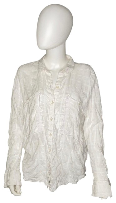 Item - White & Barely Violet Loveland Tunic Button-down Top Size 8 (M)