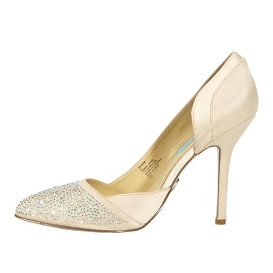 Betsey Johnson Rhinestone Stiletto Champagne Formal