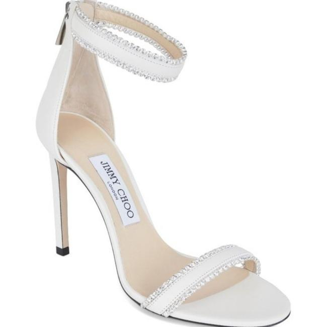 Item - White Silver Claudia Christian Louboutin Pink Patent Leather Sandals Size EU 38 (Approx. US 8) Regular (M, B)