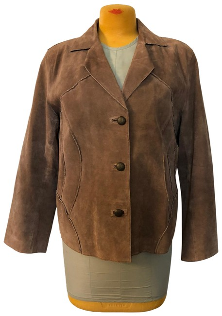 Item - Brown Suede Chic Buttons Jacket Size 20 (Plus 1x)