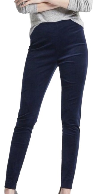 Item - Blue Navy Velvet Devon Fit Tapered Legging 6p Pants Size 6 (S, 28)