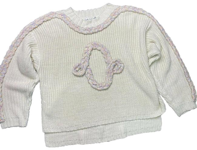 Item - Cable Party Size Large Oversized Ivory Sweater