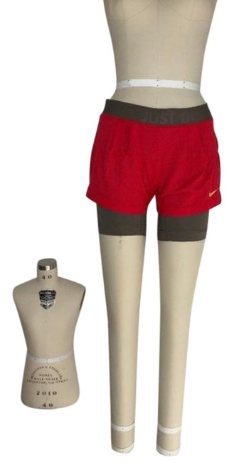 Item - Red Gray Dri-fit Layer Shorts Yoga Running Biking Activewear Sportswear Size 2 (XS, 26)