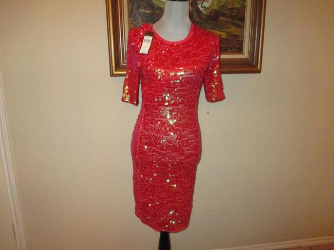Item - Red Seqiuns Sequin Cocktail Stretchy (Retail Formal Wedding Dress Size 00 (XXS)