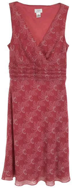 Item - Red Surplice Floral Mid-length Casual Maxi Dress Size 10 (M)