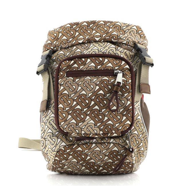 Item - Leo Belt Pack Tb Monogram Brown Nylon Backpack