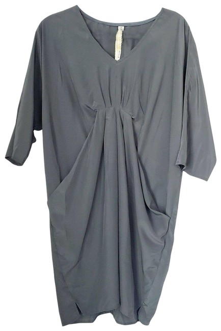 Item - Gray Pleated Anthropologie Small Night Out Dress Size 6 (S)