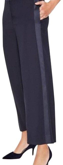 Item - Blue Navy Exeter Wide Leg Strip Crop Pants Size 6 (S, 28)