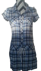 Juicy Couture short dress Blue Plaid Vintage on Tradesy