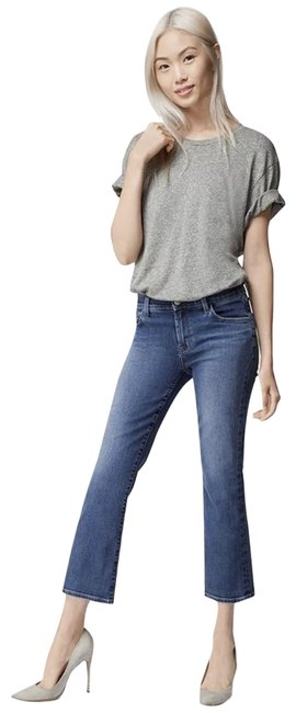 Item - Navy Indigo Selena Mid-rise Cropped Boot Cut Jeans Size 24 (0, XS)