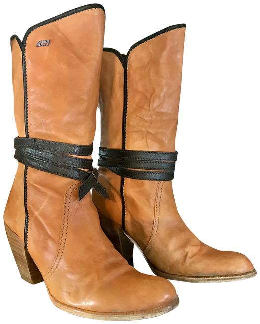 Item - Brown Leather Heeled Boots/Booties Size US 8.5 Regular (M, B)