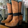 Miss Sixty Brown Leather Heeled Boots/Booties Size US 8.5 Regular (M, B) Miss Sixty Brown Leather Heeled Boots/Booties Size US 8.5 Regular (M, B) Image 2