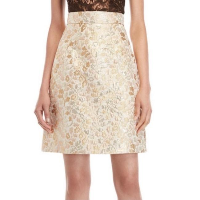Item - Gold Brocade Metallic A-line Skirt Size 2 (XS, 26)