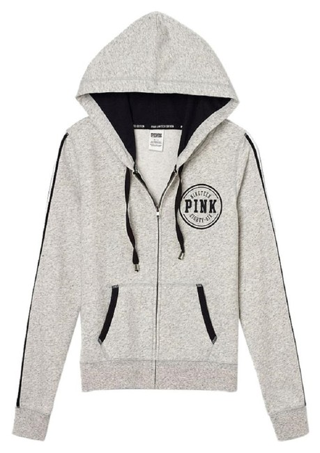 PINK Heather Grey Victoria's Secret Limited Edition Perfect Small Sweatshirt/Hoodie Size 4 (S) PINK Heather Grey Victoria's Secret Limited Edition Perfect Small Sweatshirt/Hoodie Size 4 (S) Image 1