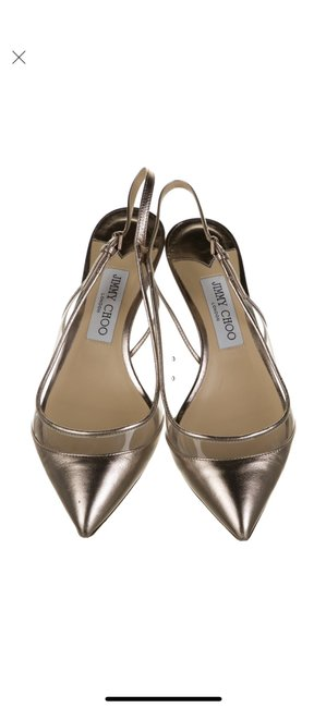 Item - Pink Gold Leather Pointed-toe Slingback Pumps Size EU 38.5 (Approx. US 8.5) Regular (M, B)