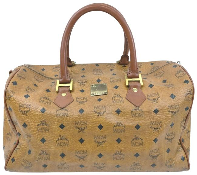Item - Duffle Cognac Monogram Visetos Boston 862340 Light Brown Coated Canvas Weekend/Travel Bag