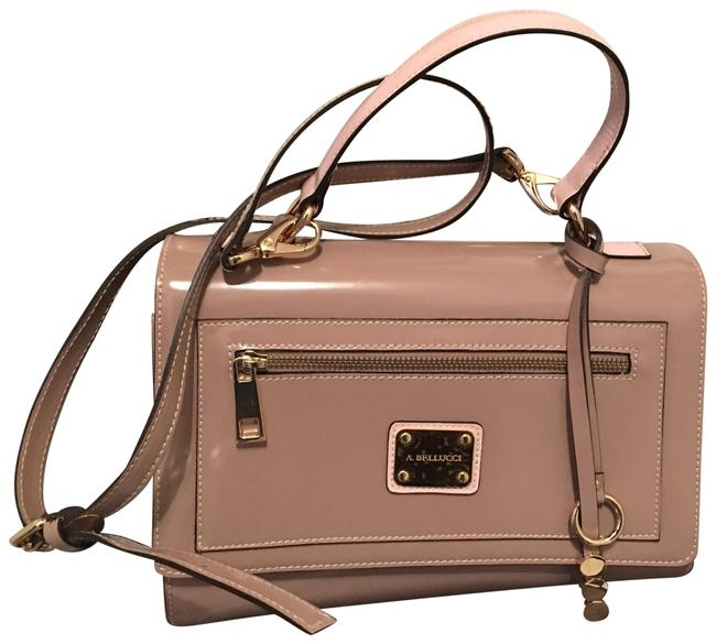 Item - With Inside Free Bracelets Blush Patent Leather & Suede Satchel