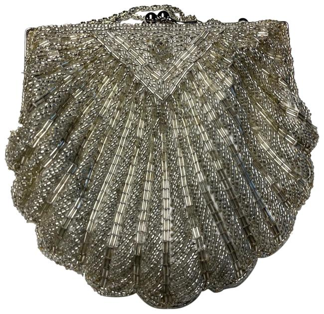 Item - Beaded Silver Beads Clutch