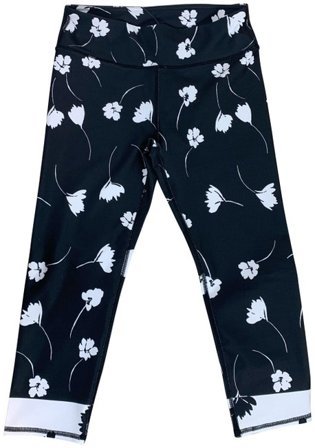 Item - Black Mid Rise Wildflower Activewear Bottoms Size 4 (S, 27)